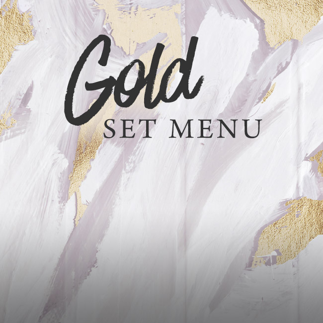 Gold set menu at The Fox