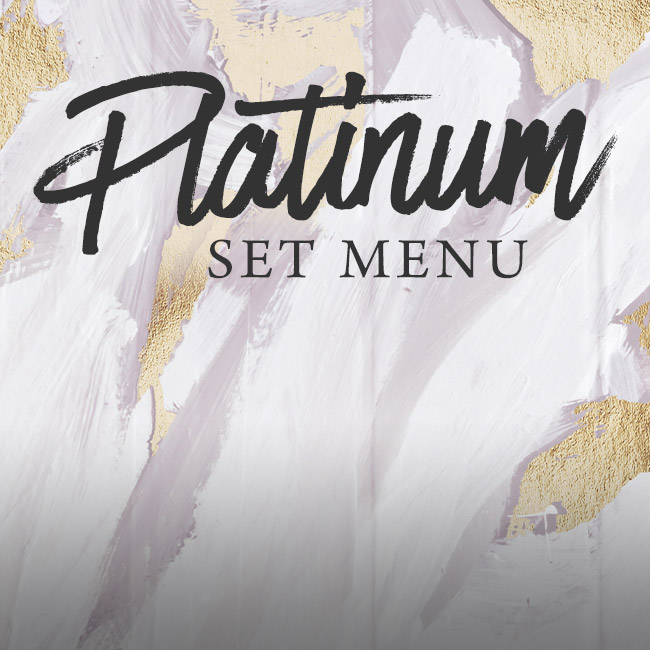 Platinum set menu at The Fox