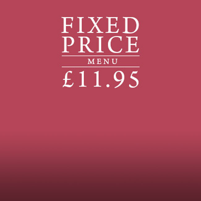 Fixed Price Menu at The Fox